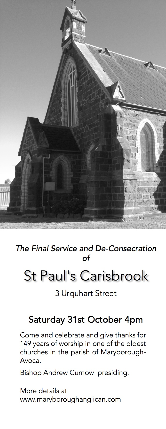 Carisbrook Ad