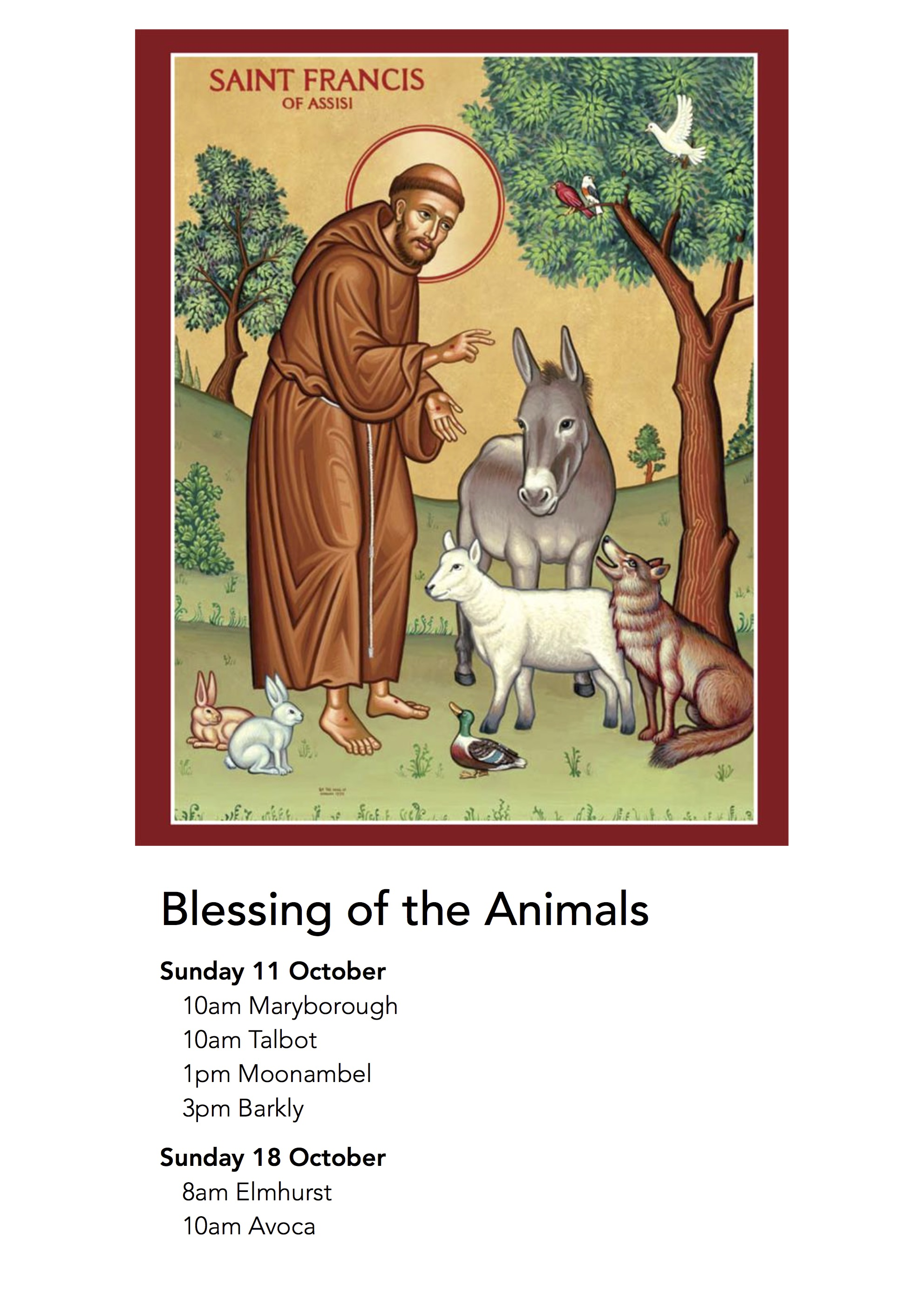 Animals Blessing 2015